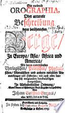 Die curieuse Orographia