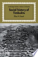 Ebook Social History of Timbuktu Epub Elias N. Saad Apps Read Mobile