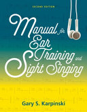 Manual for Ear Training and Sight Singing 2E