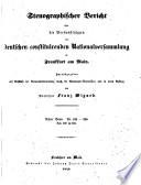 Stenographischer Bericht   ber die Verhandlungen der Deutschen consituirenden Nationslversammlung zu Frankfurt am Main