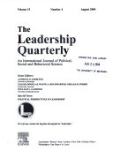 the leadership quarterly Read the latest articles of the leadership quarterly at sciencedirectcom, elsevier's leading platform of peer-reviewed scholarly literature.