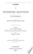 Cases of contested elections in congress