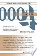GRE 4000 Book PDF