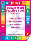 Dr  Fry s Instant Word Practice Book  Primary