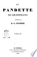 Le pandette di Giustiniano riordinate da R  G  Pothier