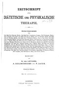 Zeitschrift für diätetische und physikalische Therapie