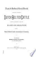Herd Register of the Dutch Belted Cattle Association Book PDF