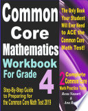 Common Core Mathematics Workbook For Grade 4