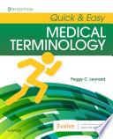 Quick Easy Medical Terminology E Book