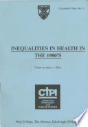 Inequalities in Health in the 1980 s