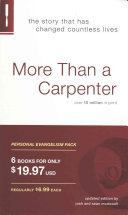 More Than a Carpenter Personal Evangelism Pack