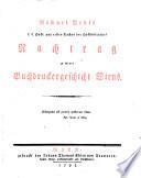 Michael Denis ... Nachtrag zu seiner Buchdruckergeschichte Wiens