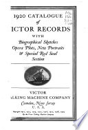 Catalogue of Victor Records