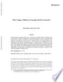 What triggers inflation in emerging market economies