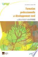 Formation professionnelle et d  veloppement rural