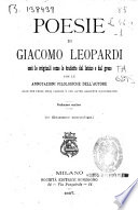Le poesie di Giacomo Leopardi