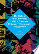 The Role Of The University With A Focus On University Community Engagement Penerbit Usm  book