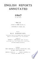 English Reports Annotated  1866 1900