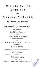Wilhelm Coxe's Geschichte des Hauses Oestreich