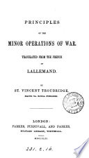 Principles of the minor operations of war  tr  by St  V  Troubridge