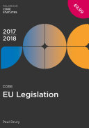 Core EU Legislation 2017-18