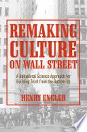Remaking Culture on Wall Street