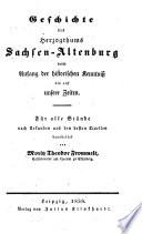 Sachsen-Altenburgische Landeskunde oder Geschichte, Geographie und Statistik des Herzogthums Sachsen-Altenburg