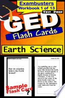 GED Test Prep Earth Science Review  Exambusters Flash Cards  Workbook 1 of 13