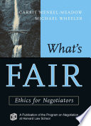 Ebook What's Fair Epub Carrie Menkel-Meadow,Michael Wheeler Apps Read Mobile