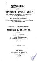 Mémoires de la princesse Daschkoff, dame d'honneur de Catherine II. impératrice de toutes les Russies