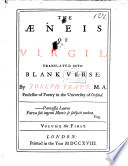 The   neis of Virgil  Translated Into Blank Verse  by J  Trapp   Remarks  Etc