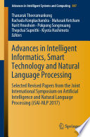 Advances In Intelligent Informatics Smart Technology And Natural Language Processing
