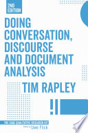 Doing Conversation  Discourse and Document Analysis