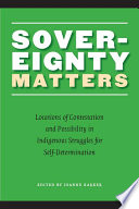 Sovereignty Matters book