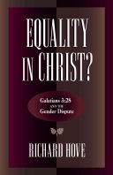 Equality In Christ  : 3:28, which is often cited as...