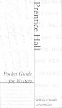 Prentice Hall Pocket Guide For Writers