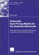 Zeitvariable Asset-Pricing-Modelle Fur Den Deutschen Aktienmarkt