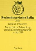Die rechtliche Behandlung ausreisewilliger Staatsb  rger in der DDR