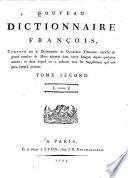 Nouveau dictionnaire francois, composé sur le dictionnaire de l' Académie francoise