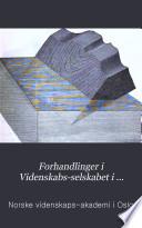 Christiania Videnskabs-selskabs forhandlinger