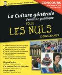 La Culture g  n  rale   Concours de la Fonction publique Pour les Nuls Concours
