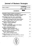 Journal of Business Strategies