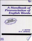 A HANDBOOK OF PRONUNCIATION OF ENGLISH WORDS