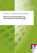 Export und Internationalisierung wissensintensiver Dienstleistungen