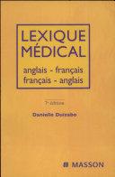 illustration du livre Lexique Medical Anglais-fran?ais/Fran?ais-anglais