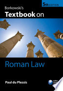 Borkowski s Textbook on Roman Law