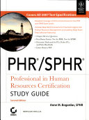 Phr Sphr  Professional In Human Resources Certification Study Guide  2Nd Ed