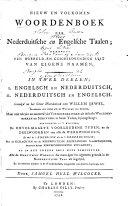 download ebook nieuw en volkomen woordenboek der nederduitsche en engelsch taalen ... pdf epub