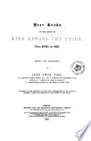 Year Books of the Reign of King Edward the Third Book PDF
