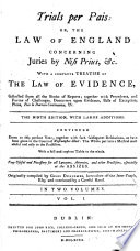 Trials Per Pais: Or, The Law Of England Concerning Juries By Nisi Prius, &c : ...